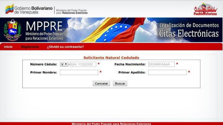 Citas de Apostillas Venezuela