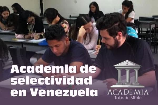 Curso de Selectividad en Caracas Venezuela 2019