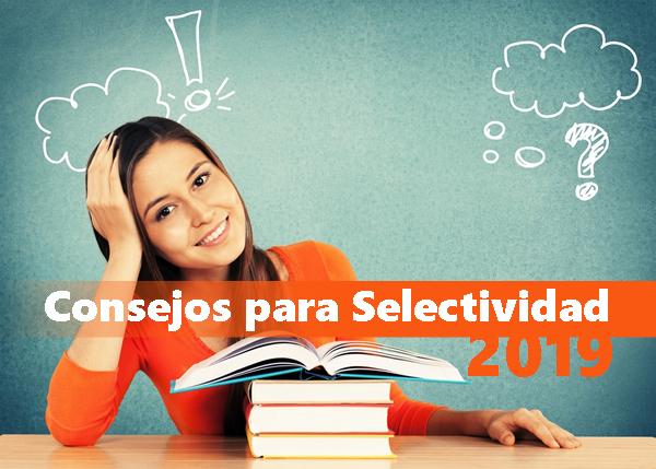 Consejos para selectividad 2019