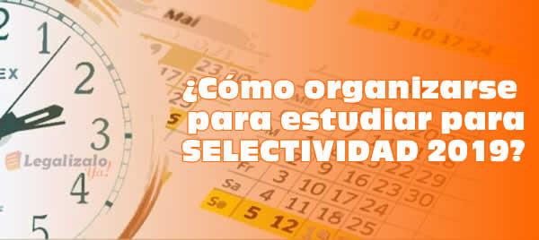 Cómo organizarse para estudiar para Selectividad