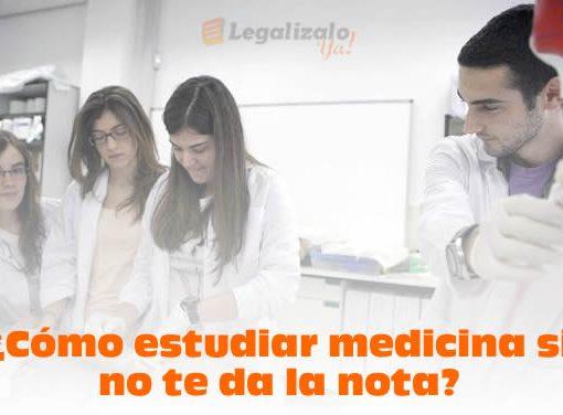 Cómo estudiar medicina si no te da la nota
