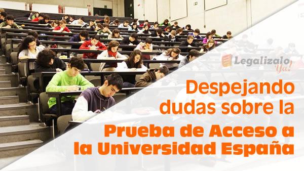Prueba de acceso a la universidad España