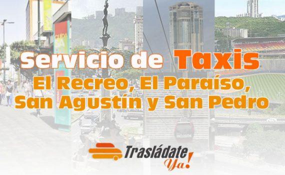 Servicio de Taxi en Caracas El Recreo, El Paraíso, San Agustín y San Pedro