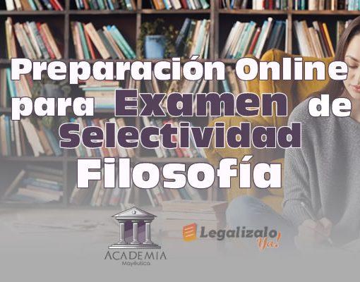 Preparación online para examen selectividad filosofía