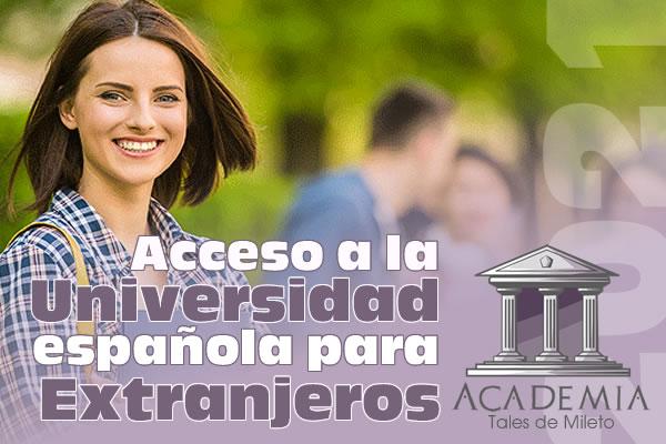 Acceso a la Universidad Española para Extranjeros 2021