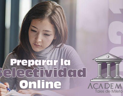 Preparar la Selectividad Online 2021