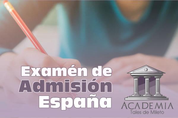 Examen de admisión España