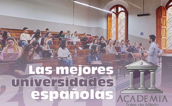 Ranking de las mejores universidades españolas 2021
